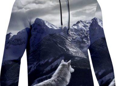 bluzy sublimowana wilk